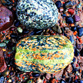 Colorful Stones Vii by Cristina Stefan