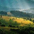 Colorful Summer Landscape In The Carpathian Mountains. Ukraine,  by Sergey Grishin