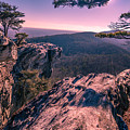 Colorful Sunset At Hanging Rock by Capturing The Carolinas