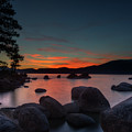 Colorful Sunset Behind Mountains At Lake Tahoe by Dan Friend