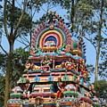 Colorful Temple, Valparai by Jennifer Mazzucco