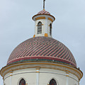 Colorful Tiles On A Church Dome by Robert Hamm