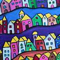 Colorful Town by Pristine Cartera Turkus
