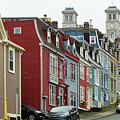 Colorful Townhouses On Victoria Street In St.john's, Newfoundland by Les Palenik