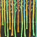 Colorful Trees by Habib Ayat