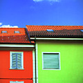 Colorful Walls And A Cloud by Silvia Ganora