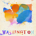 Colorful Washington State Map by Dan Sproul