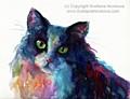 Colorful Watercolor Cat By Svetlana by Svetlana Novikova