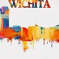 Colorful Wichita Skyline Silhouette by Dan Sproul
