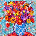 Colorful Wildflowers - Abstract Floral Art By Ana Maria Edulescu by Ana Maria Edulescu