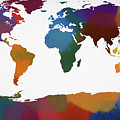 Colorful World Map by Dan Sproul