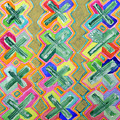 Colorful X-pattern  by Heidi Capitaine
