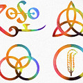 Colorful Zoso Symbols by Dan Sproul