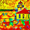 Colors Of Lime Kiln Lighthouse by Dan Sproul