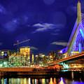 Colors Of The Zakim Bridge - Boston, Ma by Joann Vitali