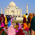 Colorful Saris At Taj Mahal by Sonal Dave