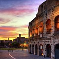 Colosseum At Sunset by Christopher Chan