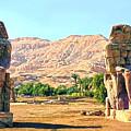Colossi Of Memnon by Roy Pedersen