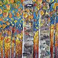 Colourful Autumn Aspen Trees By Lena Owens @olena Art by OLena Art Brand