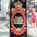 Colourful Lamp Post With The City Of Westminster Coat Of Arms London by Jacek Wojnarowski