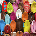 Colourful Morroccan Slipper by Elaine Hill