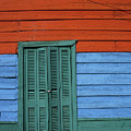 Colourful Shutters La Boca Buenos Aires by James Brunker