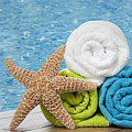 Colourful Towels by Amanda Elwell