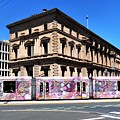 Colourful Tram At Old Treasury Building by Yolanda Caporn