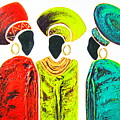 Colourful Trio - Original Artwork by Tracey Armstrong