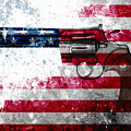 Colt Python 357 Mag On American Flag by M L C