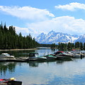 Colter Bay On Jackson Lake  by Christiane Schulze Art And Photography