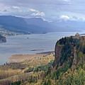 Columbia River Gorge Oregon State Panorama. by Gino Rigucci