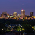 Columbia Skyline At Twilight by Charles Hite