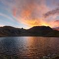 Columbine Lake Sunset - Weminuche Wilderness - Colorado by Bruce Lemons