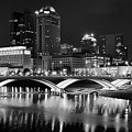 Columbus Black Night by Frozen in Time Fine Art Photography