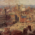 Columbus Circle New York by Colin Campbell Cooper