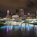 Columbus Ohio Cityscape And River by John McGraw