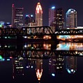 Columbus Ohio Reflecting On The River by Frozen in Time Fine Art Photography