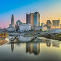 Columbus Ohio Skyline by Keith Allen