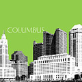 Columbus Ohio Skyline - Olive by DB Artist