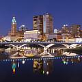 Columbus Skyline Reflection by Alan Raasch