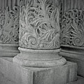 Column Of Mount Vernon Place by Jost Houk