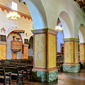 Columns At San Juan Bautista Mission by Javier Flores