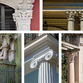 Columns Of New Orleans Collage 2 by Kathleen K Parker