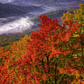 Come With Me Looking Glass Rock Blue Ridge Mountain Parkway Art by Reid Callaway