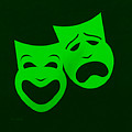Comedy N Tragedy Green by Rob Hans