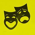 Comedy N Tragedy Neg Yellow by Rob Hans