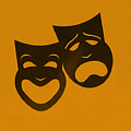 Comedy N Tragedy Orange by Rob Hans
