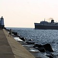 Coming Into Ludington Harbor by Bill Richards