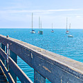 Commercial Pier On Monterey Bay-california  by Ruth Hager